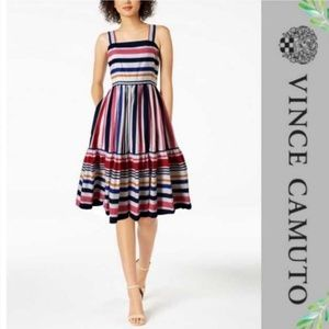 Vince Camuto Multi-Stripe linen dress (Sz. 10)